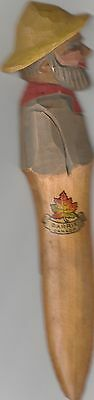 Vintage Hand Carved Wooden Nautical Letter Opener1940'S-50'S Barrie Canada