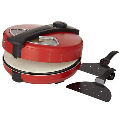 Davis & Waddell Napoli Electric Non-Stick Stone Pizza Oven w/ Lifting Paddles