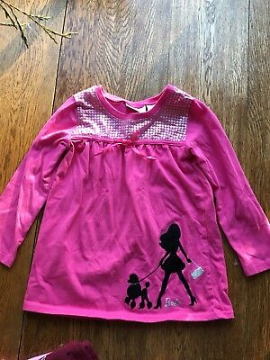 Barbie Girl Long Sleeve Shirt Pink Size 4-5