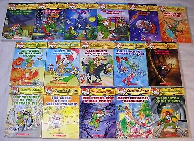 Lot of 16 GERONIMO STILTON Scholastic Series Chapter Books - FREE SHIPPING