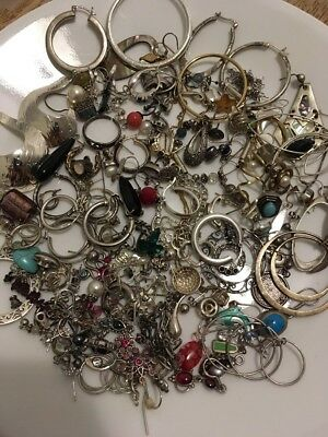 Sterling Silver 925 Scrap Lot 243 Grams Marked Untested