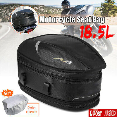 Motorcycle Touring Rear Pillion Seat Tail Tank Bag Luggage Expandable Waterproof