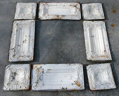 Antique Tin Ceiling Tile Panels, You Assemble to make a 4' x 4'  Frame