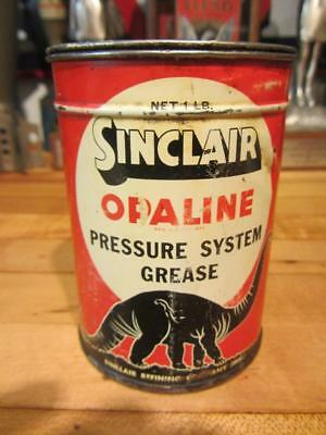 Vintage SINCLAIR OPALINE GREASE CAN 1LB. gas OIL station sign