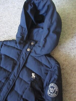 Abercrombie A&f Down Feather Hooded Black Puffer Jacket Kids Girls? Xl