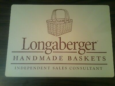 "Longaberger Handmade Baskets Independant Sales Consultant Magnetic Sign 10""Hx14W"