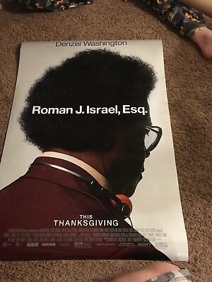 ROMAN J ISRAEL, ESQ. MOVIE POSTER 2 Sided ORIGINAL FINAL 27x40 Double Sided