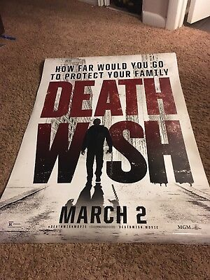 Death Wish 2018 27x40 Original Double Sided Movie Poster Free Shipping