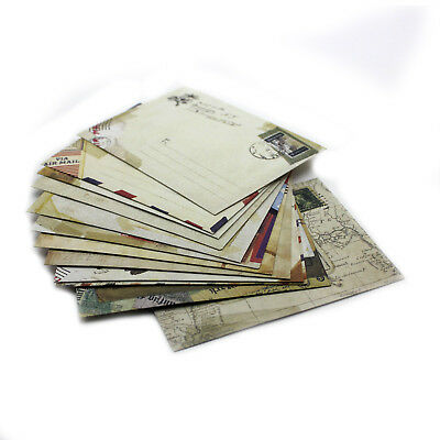 12Pcs Vintage Western Retro Style Pattern Ancient Envelope Greeting Stationery