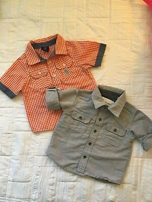 Baby Boy set of TWO multi color button up shirts