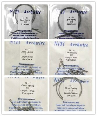 Dental Orthodontic NiTi Closed Coil Spring 012*6/9/12mm&Open Coil Spring 010/012
