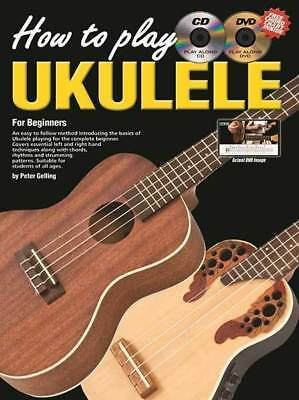 Progressive How To Play Ukulele Book With CD And DVD
