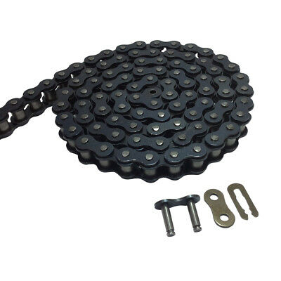 # 40 Carbon Steel Roller Chain Length 5 Feet with 1 Connector Link 0.5 inches
