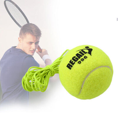 1Pc Tennis Ball With String Trainer Replacement Rubber Woolen Training Sport