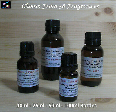 Premium Quality Fragrance Oils Candle Supplies, Soaps Oil Burners 10|25|50|100ml
