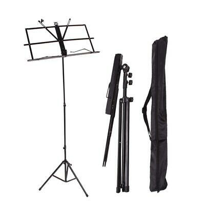 New Adjustable Folding Music Sheet Stand Holder Mount Tripod with Carrying Bag