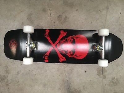 Z-Flex Complete Skateboard Throwback Complete  Skull And Bones Black Red Zflex Z