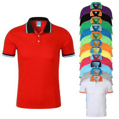 Men's Polo Shirts Short Sleeve Selection Various Styles Colours Classic T-shirt