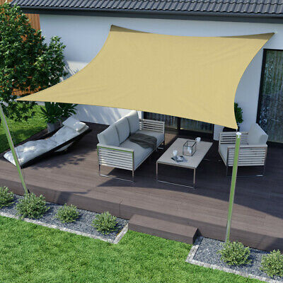 Sun Shade Sail Garden Patio Sunscreen Awning Canopy UV Screen Water Resistant