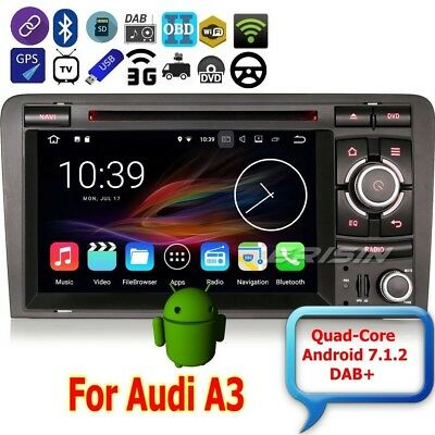 AUDI A3 Autoradio 2003-2011 S3 RS3 Android 7.1 DAB+Car DVD Wifi 3G DTV BT 4727IT