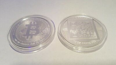 Bitcoin Proof 1 oz .999 silver commemorative coin limited no longer made