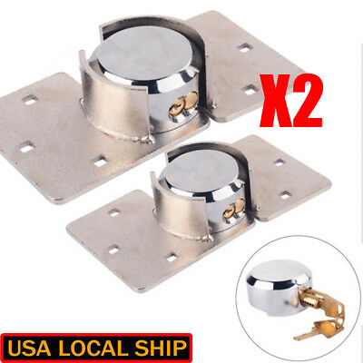 2PCS Round Puck Lock Hidden Shackle Utility Van Garage Shed Door Steel Padlock
