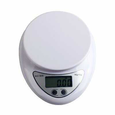 5kg 5000g Digital LCD Kitchen Food Diet Weight Balance Weighing Compact Scale UK