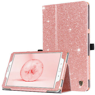 For Samsung Galaxy Tab A 10.1 Glitter Magnetic Folio Stand Leather Tablet Cases