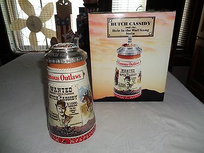 Anheuser Busch Famous Outlaw Butch Cassidy And The Hole In The Wall Gang Stein