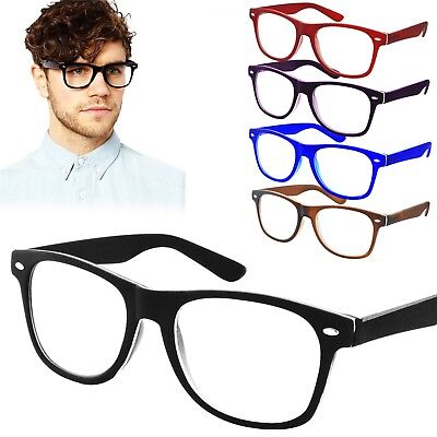 Reading Glasses +1.0 +3.0 Unisex Wayfarer Trendy Designer Spring Men Women