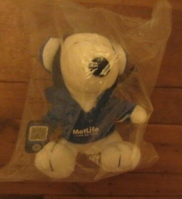 """Snoopy Metlife """"I can Do This"""" head phones plush stuffed animal new in bag"""