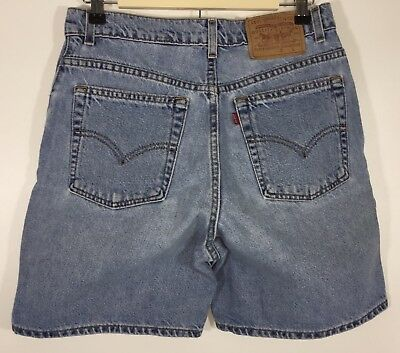 Levis Womens Jean Shorts Size 10 Bermuda Walking Relaxed Fit High Waisted