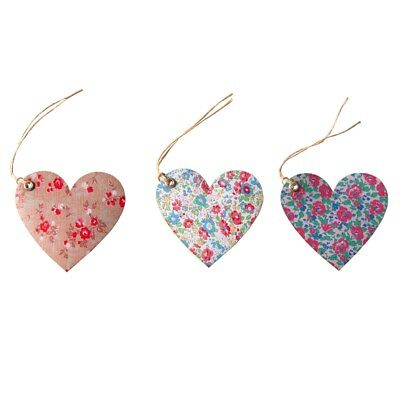 Set Of 15 Sass & belle Shabby Chic English Garden HEART Shaped Gift Tags/Labels