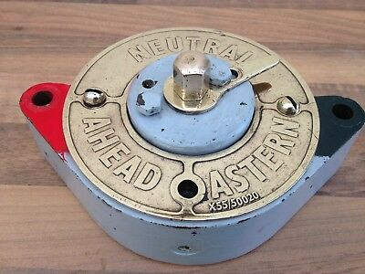 vintage ships telegraph - Repeater, Brass face . Maritime Marine Nautical Navy