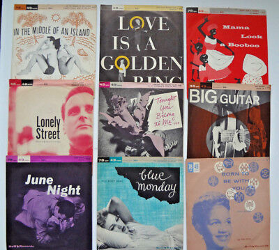 VINTAGE Lot of 1950s-60s BELL 45s W/PS-Barry Frank-Jimmy Carroll-Fred Cash-Eden