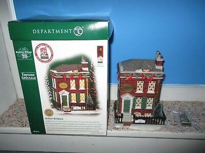 Dept. 56 Special Edition, Dickens' Birthplace,  w/Collector Pin, Lights Up LOOK