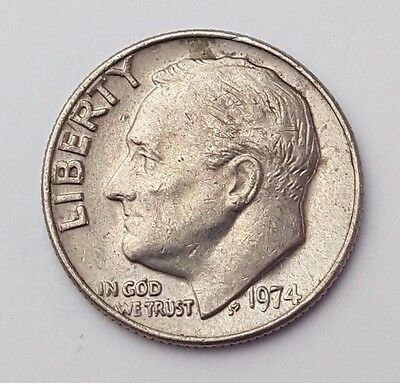 Dated : 1974 - USA - Roosevelt One Dime - Coin - United States of America