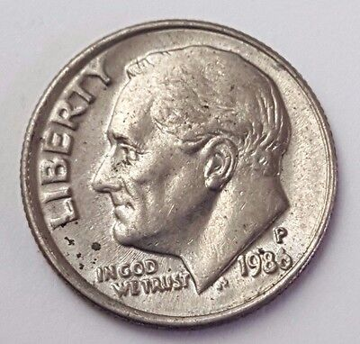 Dated : 1986 - USA - Roosevelt - One Dime - Coin - United States of America