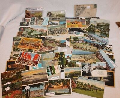 Huge Lot of Antique Vintage USA Postcards, Early 1900's to 1950's