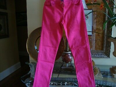 Gap kids   Junior's Super Skinny Adjustable Stretch Red Jeans Size 16 Mid -Rise