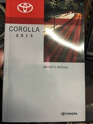 2009 Toyota Corolla Owners Manual with warranty guide and case