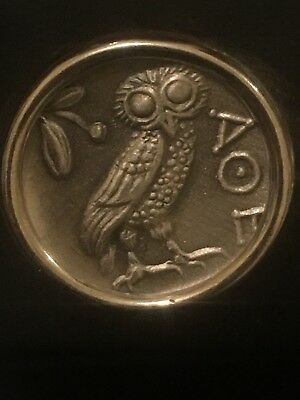Siegelring Silber 925 Athen Und Die Eule Greek Coin Ring The Owl And Athens