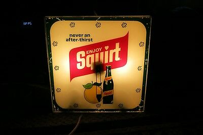 SQUIRT SODA vintage soda advertising clock project