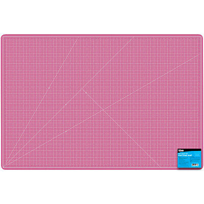 "18"" x 24"" PINK/BLUE Self Healing 5-Ply Double Sided Durable PVC Cutting Mat"