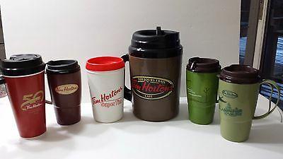 Tim Hortons Insulated Cups and Thermos Coffee Tea Travel Collectible Plastic Lot