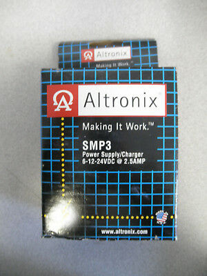 ALTRONIX SMP3 Power Supply/Charger  6-12-24VDC @ 2.5amp    NEW