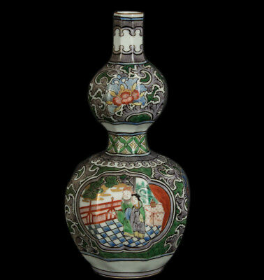 China 20. Jh. -A Chinese 'Famille Verte' double-gourd Vase - Chinois Vaso Cinese