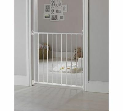 BabyStart Single Panel Metal Wall Fix Safety Gate No Step Over Bar At The Bottom