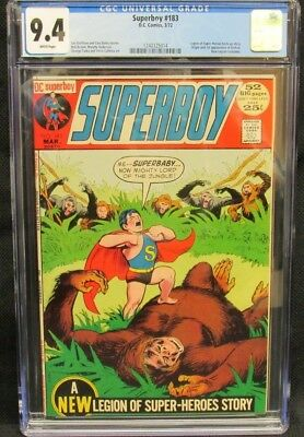 Superboy #183 (1972) DC Comics 1st App. Karkan CGC 9.4 White Pages K508