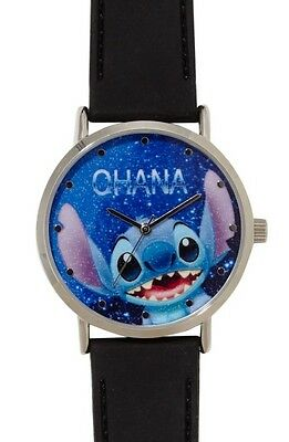 Disney Lilo And Stitch Ohana Galaxy Rubber Strap Watch New In Collectors Tin!